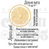 Набор штампов Питерского Скрапклуба АПЕЛЬСИН