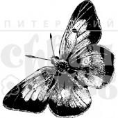 Штамп Питерского Скрапклуба БАБОЧКА БОЛЬШАЯ