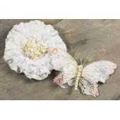 Украшения Prima ANDORRA WHITE бабочка и цветок