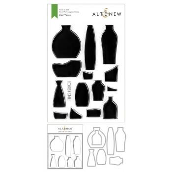 Набор штампов, ножей для вырубки и масок Altenew MOD VASES BUNDLE