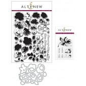 Набор штампов и ножей для вырубки Altenew VINTAGE ROSES BUNDLE с дополнением ADD-ON
