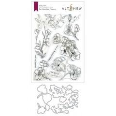 Набор штампов и ножей для вырубки Altenew PEN SKETCHED FLOWERS BUNDLE