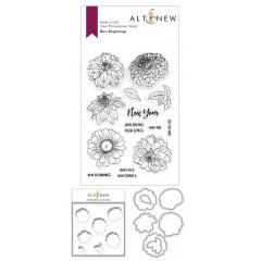 Набор штампов, ножей для вырубки и масок Altenew NEW BEGINNINGS BUNDLE
