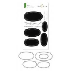 Набор штампов и ножей для вырубки Altenew APOTHECARY LABELS BUNDLE