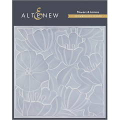 Папка для тиснения 3D Altenew FLOWERS & LEAVES
