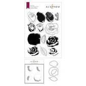 Набор штампов, ножей для вырубки и масок Altenew CARTOON ROSE BUNDLE