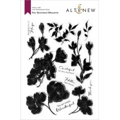 Набор штампов Altenew PEN SKETCHED SILHOUETTE