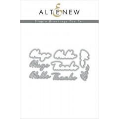 Набор ножей для вырубки Altenew SIMPLE GREETINGS
