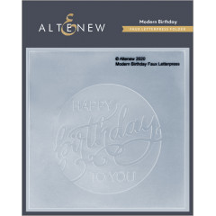 Папка для тиснения Altenew MODERN BIRTHDAY FAUX LETTERPRESS DEBOSSING