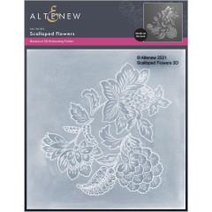 Папка для тиснения 3D Altenew SCALLOPED FLOWERS