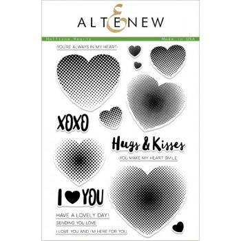 Набор штампов Altenew HALFTONE HEARTS