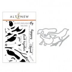 Набор штампов и ножей для вырубки Altenew BIRD OF A FEATHER BUNDLE