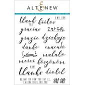 Набор штампов Altenew THANKS AROUND THE WORLD