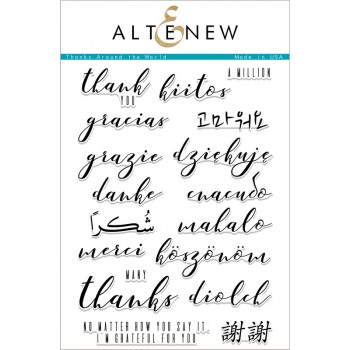 Набор штампов Altenew THANKS AROUND THE WORLD