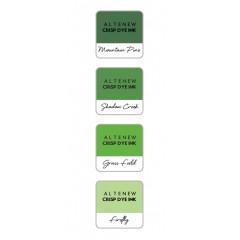 Набор чернильных подушечек Altenew Crisp Inks GREEN VALLEY