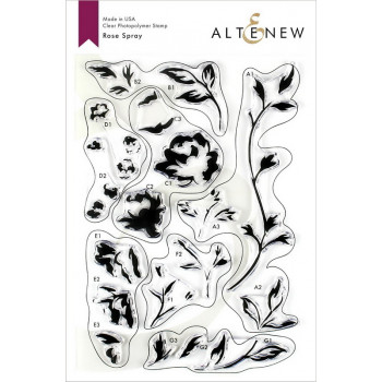 Набор штампов Altenew ROSE SPRAY