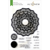 Набор штампов Altenew PEN SKETCH MANDALA