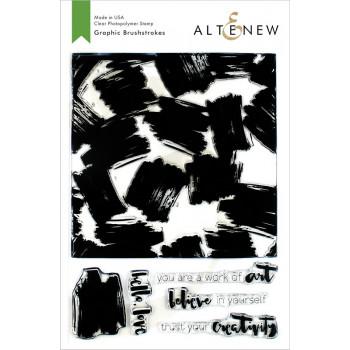 Набор штампов Altenew GRAPHIC BRUSHSTROKES
