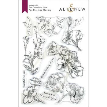 Набор штампов Altenew PEN SKETCHED FLOWERS