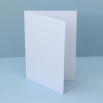 Заготовки для открыток 10,5х15см из белого кардстока 3шт