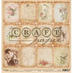 Лист бумаги для скрапбукинга CraftPaper КАРТОЧКИ коллекция Семейный архив 30х30см