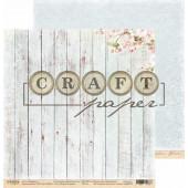 Лист бумаги для скрапбукинга CraftPaper НЕЖНЫЙ АРОМАТ коллекция Вишневый сад 30х30см