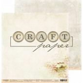 Лист бумаги для скрапбукинга CraftPaper ЩЕБЕТ ПТИЦ коллекция Вишневый сад 30х30см