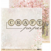 Лист бумаги для скрапбукинга CraftPaper ПРЕКРАСНЫЙ САД коллекция Вишневый сад 30х30см
