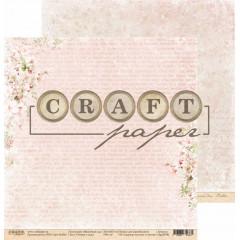 Лист бумаги для скрапбукинга CraftPaper ЧТЕНИЕ В САДУ коллекция Вишневый сад 30х30см