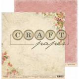 Лист бумаги для скрапбукинга CraftPaper КРАКЛЕ коллекция Письма о любви 30х30см