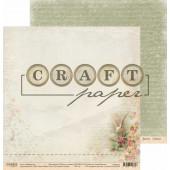 Лист бумаги для скрапбукинга CraftPaper ПОЧТОВЫЙ ГОЛУБЬ коллекция Письма о любви 30х30см