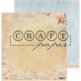 Лист бумаги для скрапбукинга CraftPaper РОДНОЙ ПОЧЕРК коллекция Письма о любви 30х30см