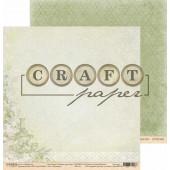 Лист бумаги для скрапбукинга CraftPaper ЧАЕПИТИЕ коллекция Родные просторы 30х30см