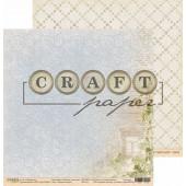 Лист бумаги для скрапбукинга CraftPaper РЕЗНЫЕ СТАВНИ коллекция Родные просторы 30х30см