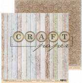 Лист бумаги для скрапбукинга CraftPaper СТАРЫЕ ДОСКИ коллекция Родные просторы 30х30см