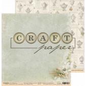 Лист бумаги для скрапбукинга CraftPaper КУРОЧКА РЯБА коллекция Родные просторы 30х30см