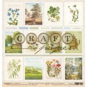 Лист бумаги для скрапбукинга CraftPaper КАРТОЧКИ коллекция Родные просторы 30х30см