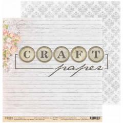 Лист бумаги для скрапбукинга CraftPaper НАШ САД коллекция Пионовый сад 30х30см