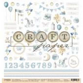 Лист бумаги для скрапбукинга CraftPaper МОИ ИГРУШКИ коллекция Наш сынок 30х30см