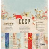 Набор бумаги для скрапбукинга CraftPaper СССР 30х30см