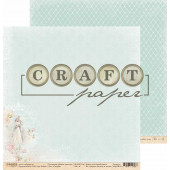 Лист бумаги для скрапбукинга CraftPaper СВАДЬБА коллекция Вместе навсегда 30х30см