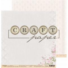 Лист бумаги для скрапбукинга CraftPaper БУКЕТ НЕВЕСТЫ коллекция Вместе навсегда 30х30см