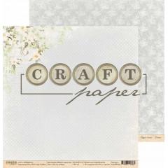 Лист бумаги для скрапбукинга CraftPaper ЭТО ПО ЛЮБВИ коллекция Вместе навсегда 30х30см