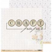 Лист бумаги для скрапбукинга CraftPaper ПАМЯТНЫЙ ДЕНЬ коллекция Вместе навсегда 30х30см