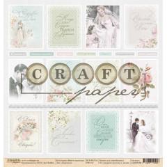 Лист бумаги для скрапбукинга CraftPaper КАРТОЧКИ коллекция Вместе навсегда 30х30см