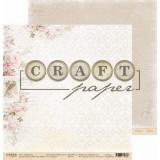 Лист бумаги для скрапбукинга CraftPaper ТРЕЛИ коллекция Соберу букет 30х30см