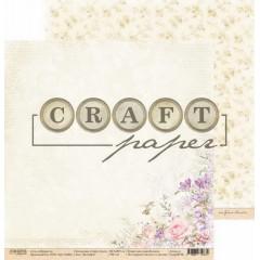 Лист бумаги для скрапбукинга CraftPaper КОЛИБРИ коллекция Соберу букет 30х30см