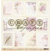 Лист бумаги для скрапбукинга CraftPaper КАРТОЧКИ коллекция Соберу букет 30х30см