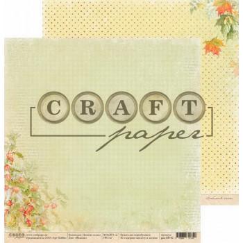 Лист бумаги для скрапбукинга CraftPaper ФИЗАЛИС коллекция Золотая осень 30х30см