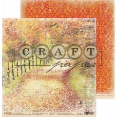 Лист бумаги для скрапбукинга CraftPaper ТРОПИНКА коллекция Золотая осень 30х30см